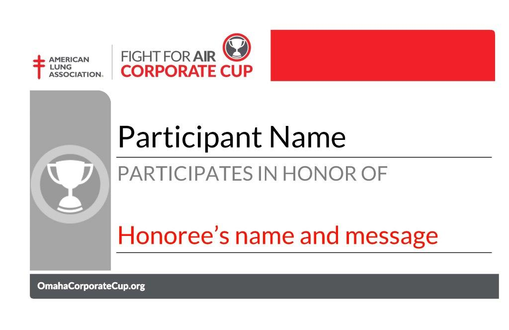 Corporate Cup Mission Markers
