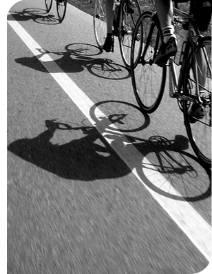 Riding Shadows BW
