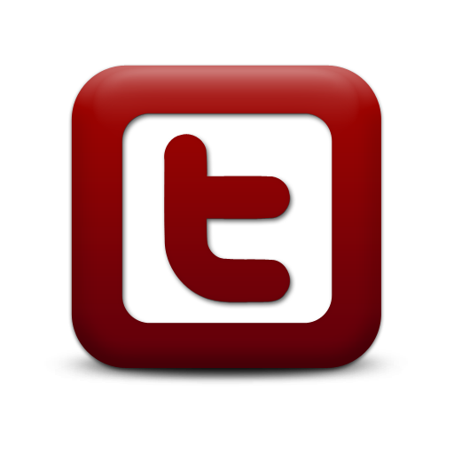 Twitter logo Red-White