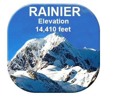 Mt Rainier Picture Button