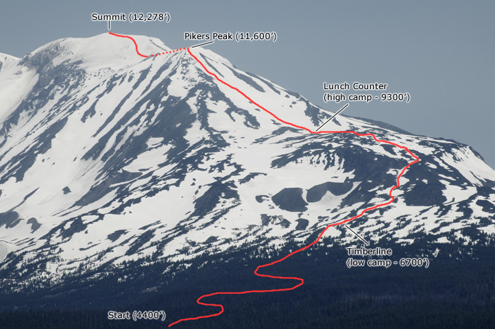 Mt adams route