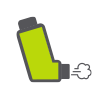 child w/inhaler icon