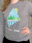 Click here for more information about Maine Trek Long Sleeve - Gray