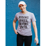 Click here for more information about Saving Lives Shirt Light Heather Gray