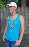 Click here for more information about Maine Trek Racerback Tank - Blue