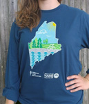 Click here for more information about Maine Trek Long Sleeve - Blue