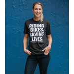 Click here for more information about Saving Lives Shirt Charcoal Gray