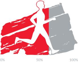 63 percent of goal achieved.